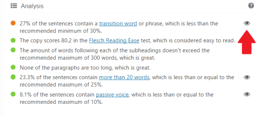 how to write seo friendly blog post - readability functions