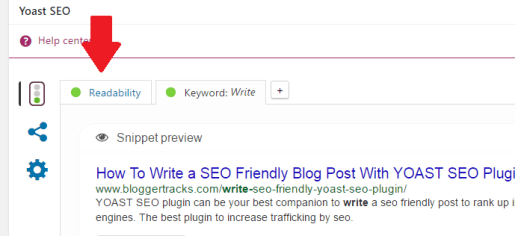 write seo friendly blog post - readability checking
