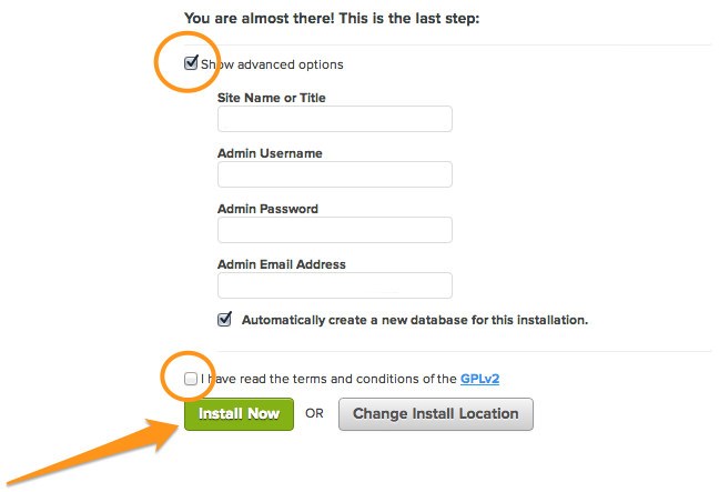 how to start a blog - WordPress Username and Password