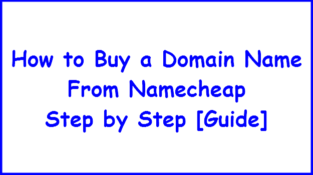 buy domain name from namecheap tutorial photo