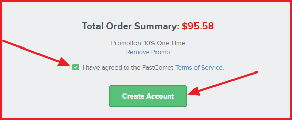 FastComet Coupon Code - Terms of service