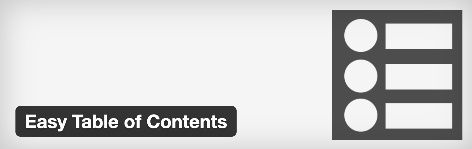 Easy Table of Content Plugin