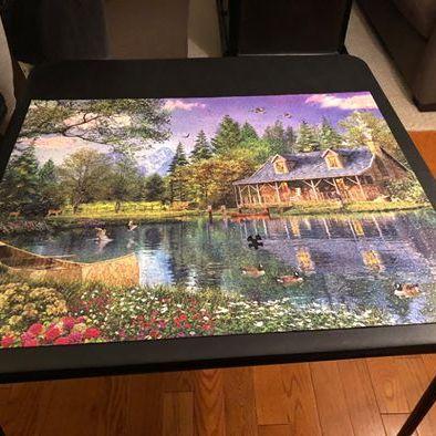Lakeside scene puzzle