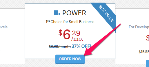 InMotion Hosting ordering power plan