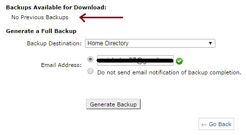 backup your website
