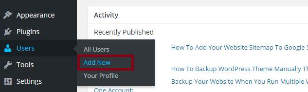 add new users in wordpress