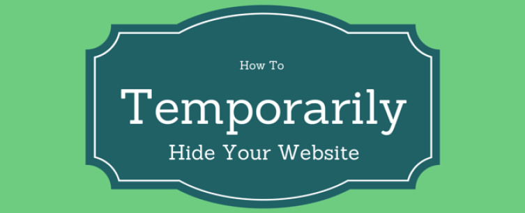 How To temporarily diable wordpress site