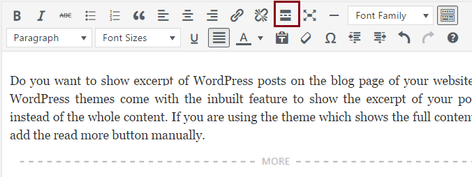 how to add read more in wordpress