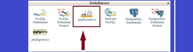 import database in mysql