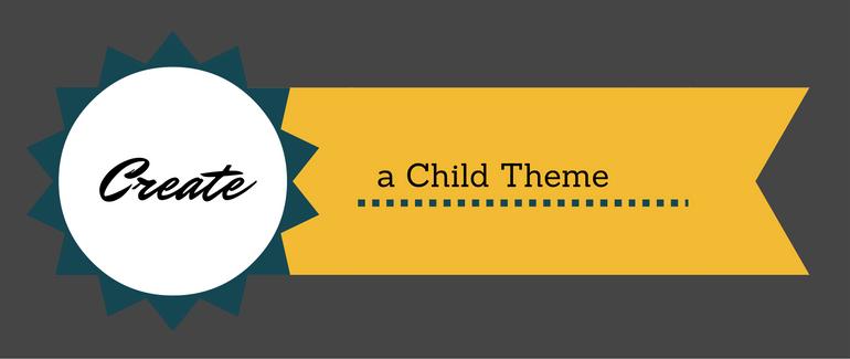 create a child theme