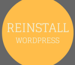 reinstall wordpress