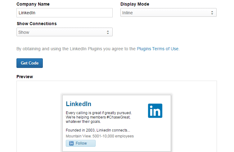 how to add linkedin button