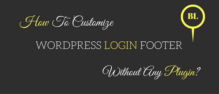 customize wordpress login footer