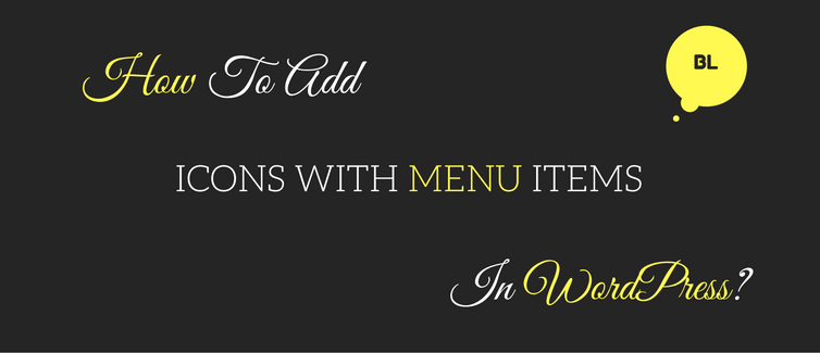 add icons with navigation menu items in wordpress