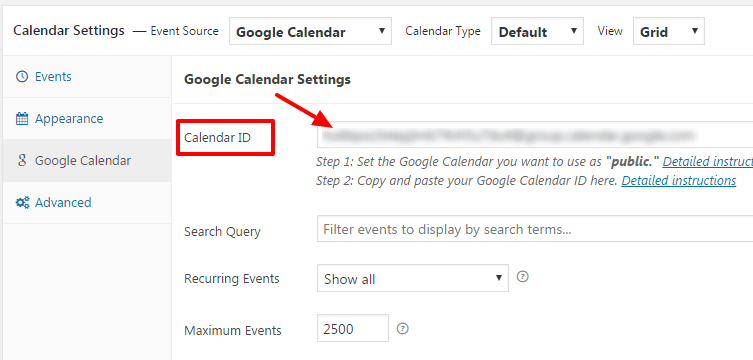 add calendar to your website