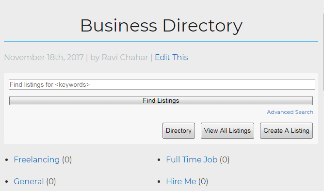 web directory using WordPress