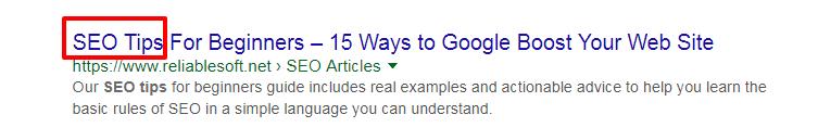 Google website ranking factors