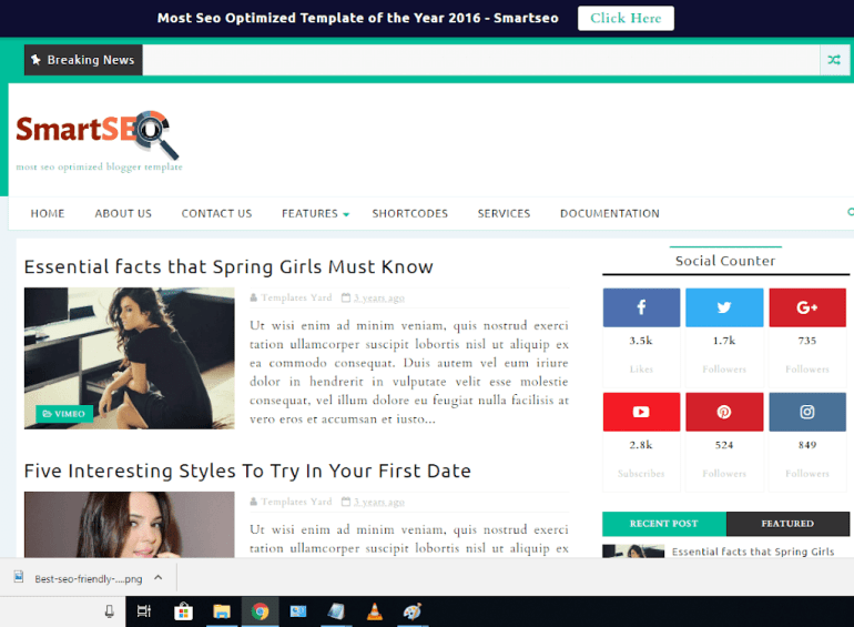 smart seo blogger template