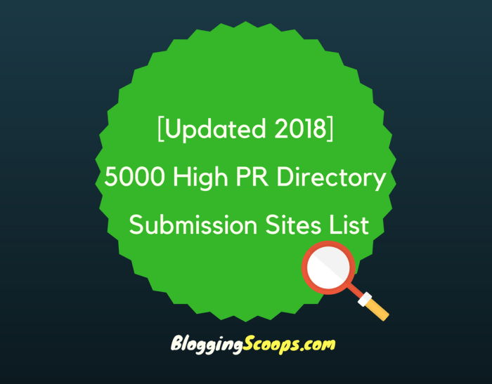 5000 directory submission sites list 2018