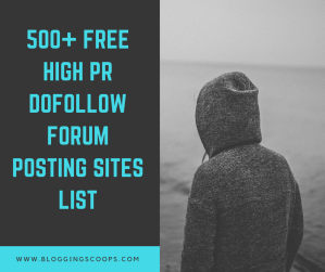 Free Forum Posting Sites List BloggingScoops