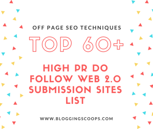 Top High PR Web 2.0 Submission Sites List