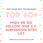 Top 60+ High PR Web 2.0 Submission Sites List