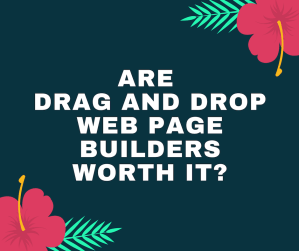 drag and drop web page builders