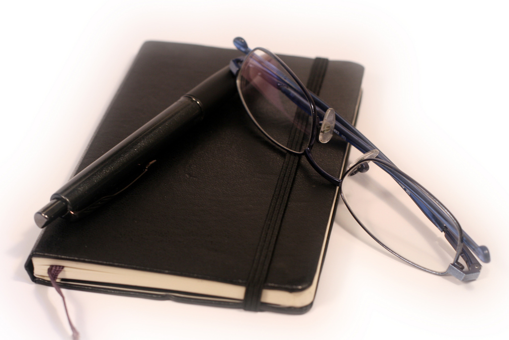 Pen, Diary and Glasses