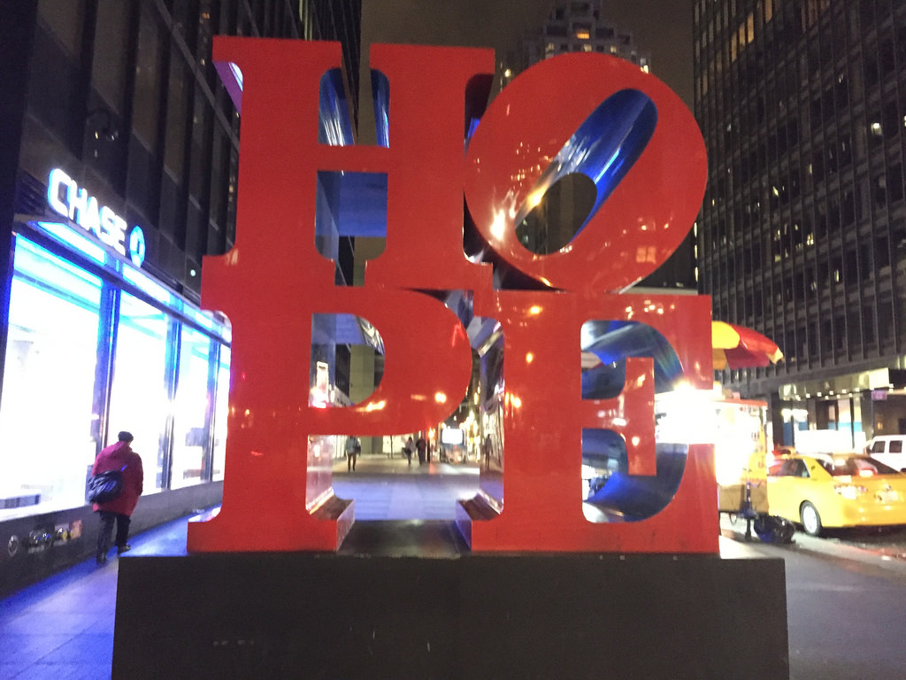 Hope statue in New York
