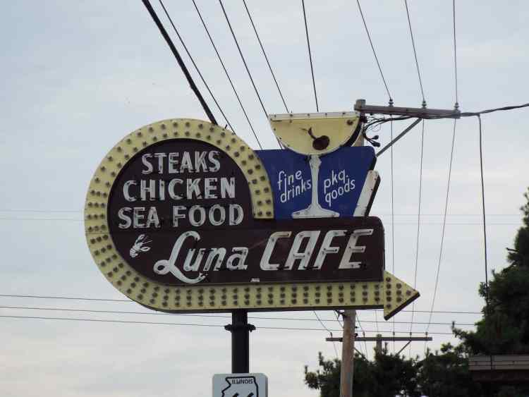 The Luna Cafe on Illinois Route 66 one time haunt of gangster Al Capone