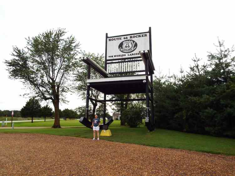 The Worlds largest Rocking Chair in Fanning Missouri on route 66