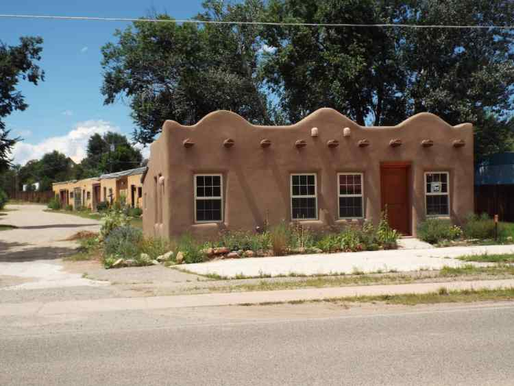 Typical housing style in Santa Fe New Mexico
