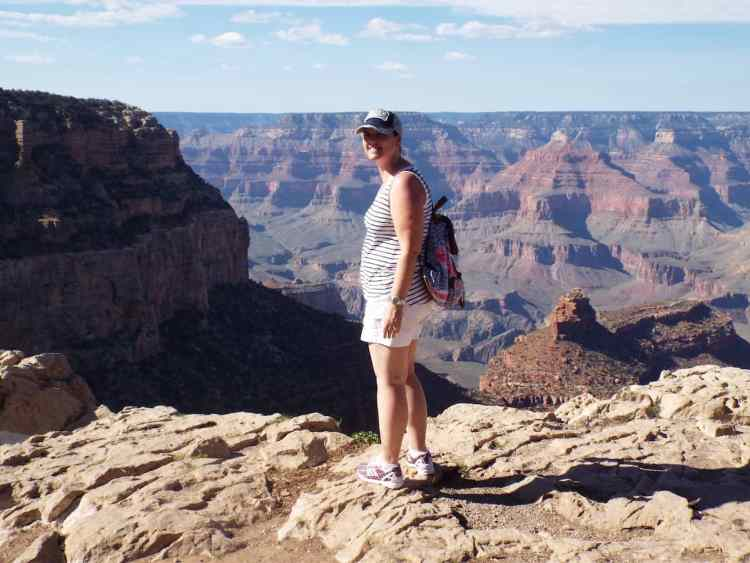 DON'T LOOK DOWN ! overlooking the edge of the Grand Canyon