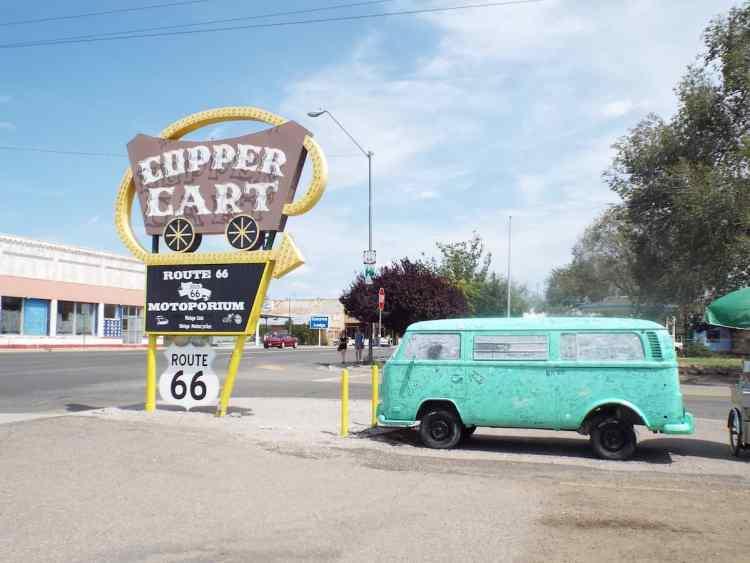 Filmore VW Camper van from Cars the Movie in Seligman