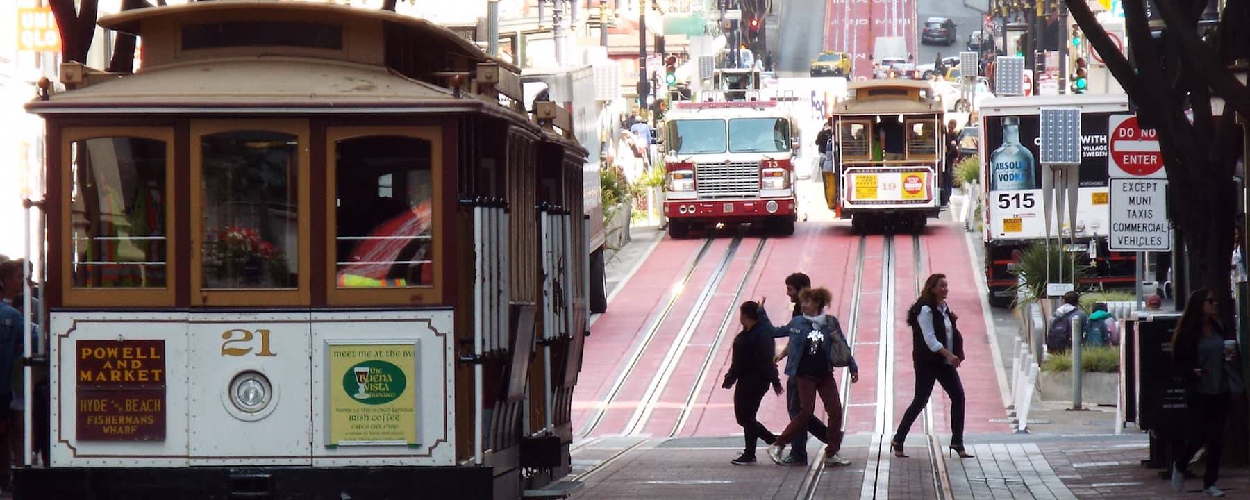San Francisco, hills and lots of walking