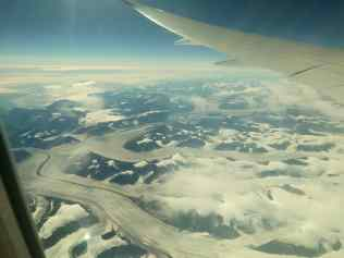 The view of Greenland from the plane