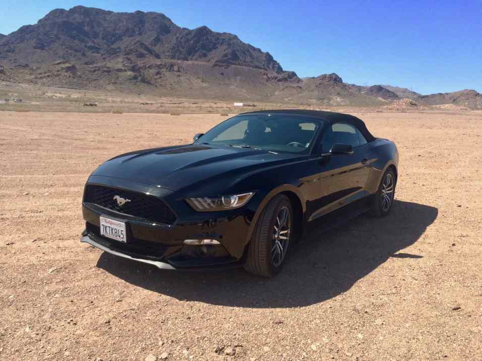 Ford Mustang hired for the day to drive to Lake Mead and the Hoover Damn in 2015