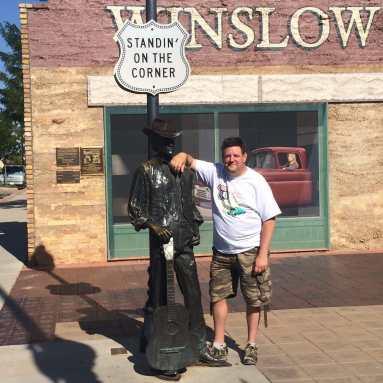 Standing on the corner in Winslow Arizona