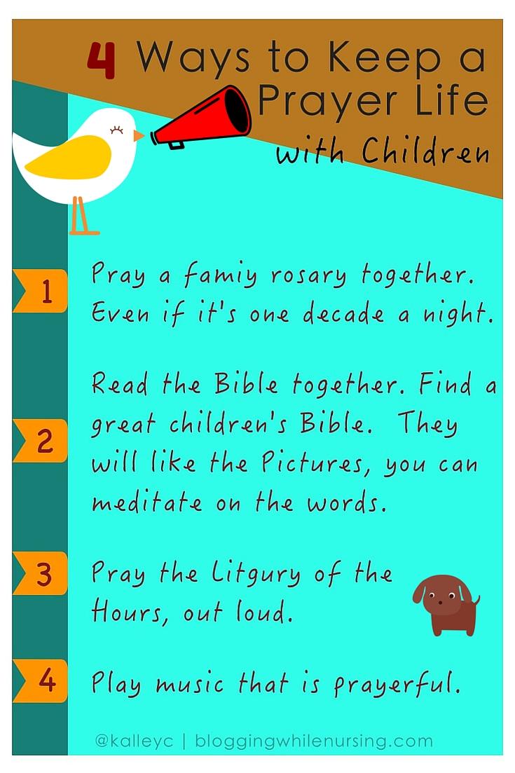 4 Ways to Keep Praying with Kids