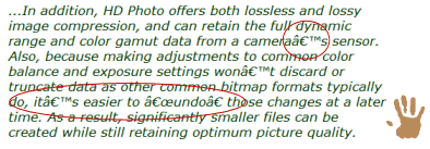 Example of characters from word processor documents not converting in WordPress
