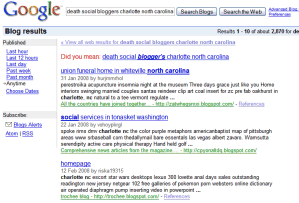 Google search results in blogspot splogs