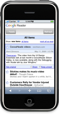 iPhone for Google Reader (Beta)