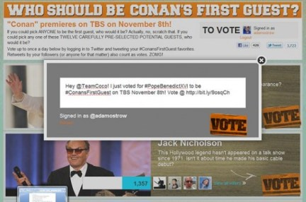 Conan O'Brien Voting System