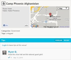 Afghanistan Military Base Check-in