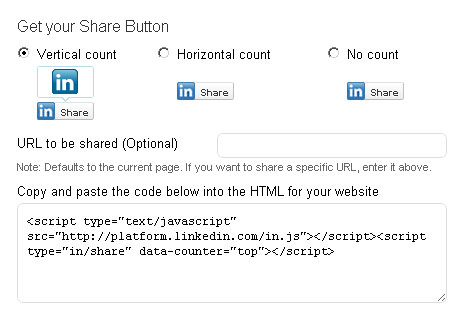 LinkedIn Share Button Now Available