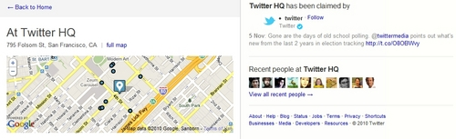 Twitter Business Claim and Check-In Screen