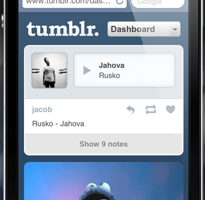 Guess Which Smartphones Tumblr Favors?