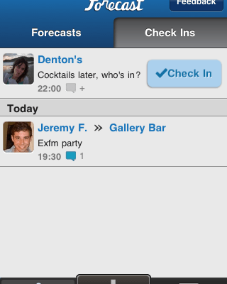 Forecast App Sends Future Foursquare Check-In Notices To Your Friends List