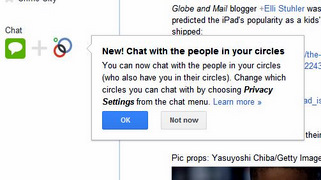 Google Chat with Google Plus Circles