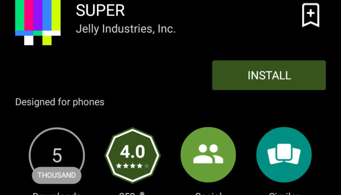 SUPER is a new take on well-known features of social networks.